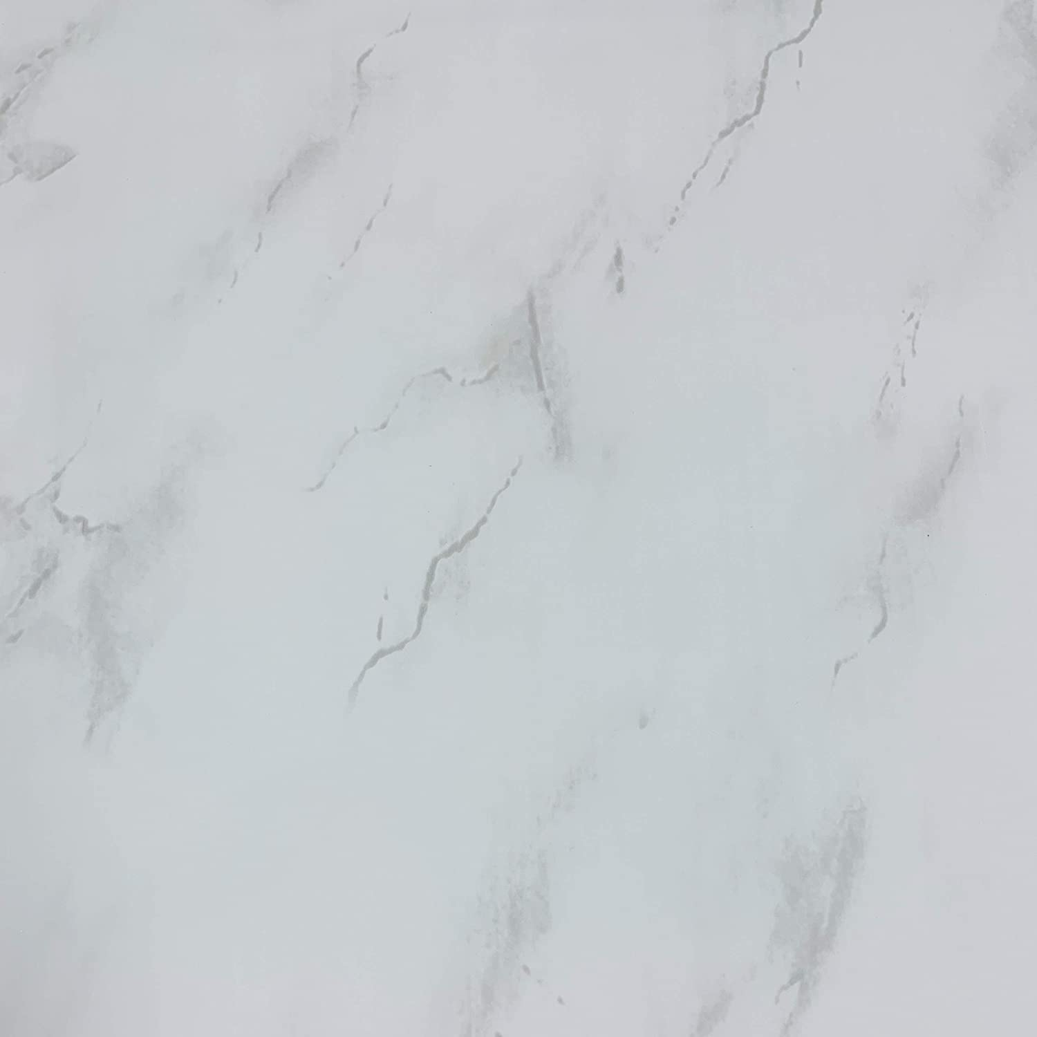 5 Panels DBS White Marble Bathroom Panels PVC Ceiling Cladding Shower Wall Kitchen