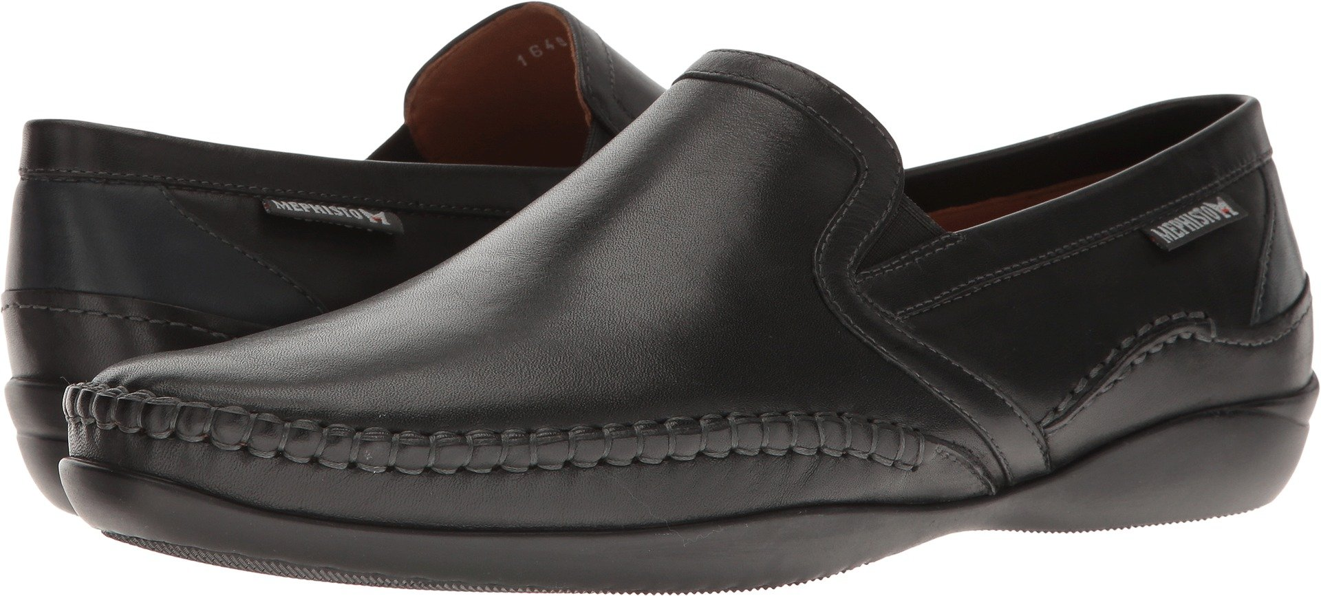 Mephisto Men's Irwan Moc Toe Loafer,Black/Navy Joachim Leather,US 12 M by Mephisto
