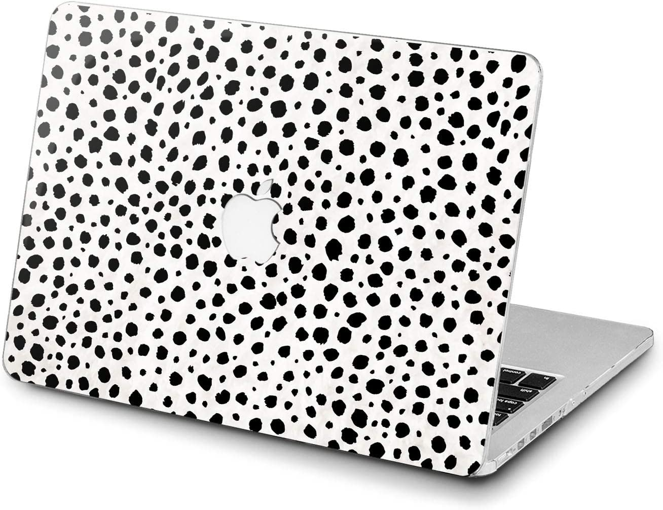 Lex Altern Hard Case for Apple MacBook Pro 15 Air 13 inch Mac Retina 12 11 2020 2019 2018 2017 2016 Print Design Plastic Fancy Women Protective Dot Abstract Shell Black Girl White Cow Cover Leopard