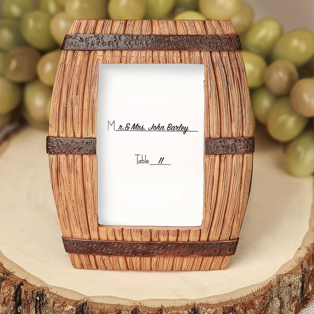 96 Wine Barrel Themed Place Card Frames / Picture Frames by Fashioncraft (Image #2)