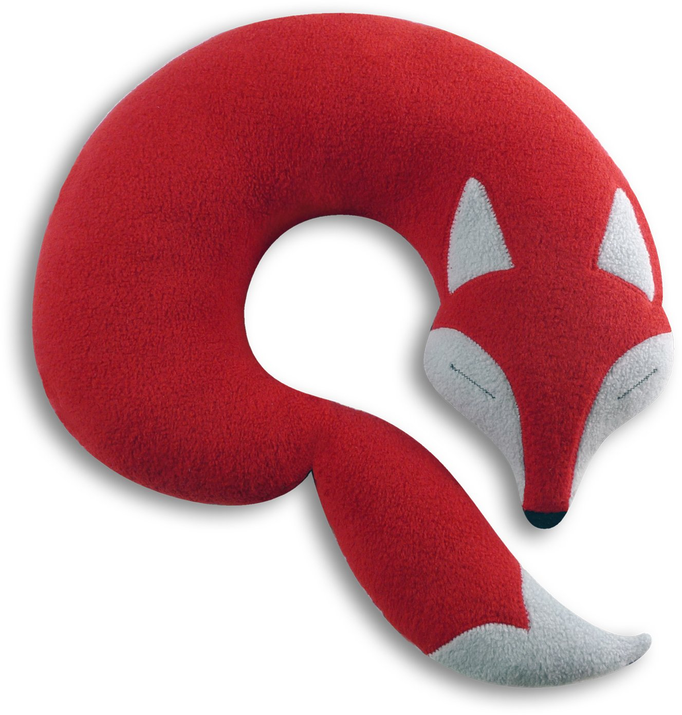 Leschi Travel pillow (for car and plane journeys) | 36836 | Peter the fox | Colour: Fire/Midnight Leschi GmbH 4260049582448