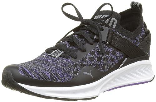 Puma Ignite Evoknit Lo Wns, Zapatillas de Running para Mujer, Negro Black-Electric