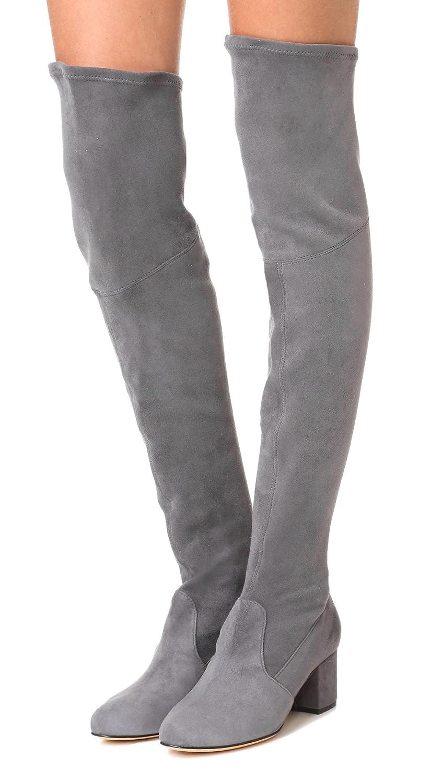 Schutz Womens Tamarah Over The Knee Boots Slate Grey Heels Wanita Suede 274 55 Bm Us Shoes