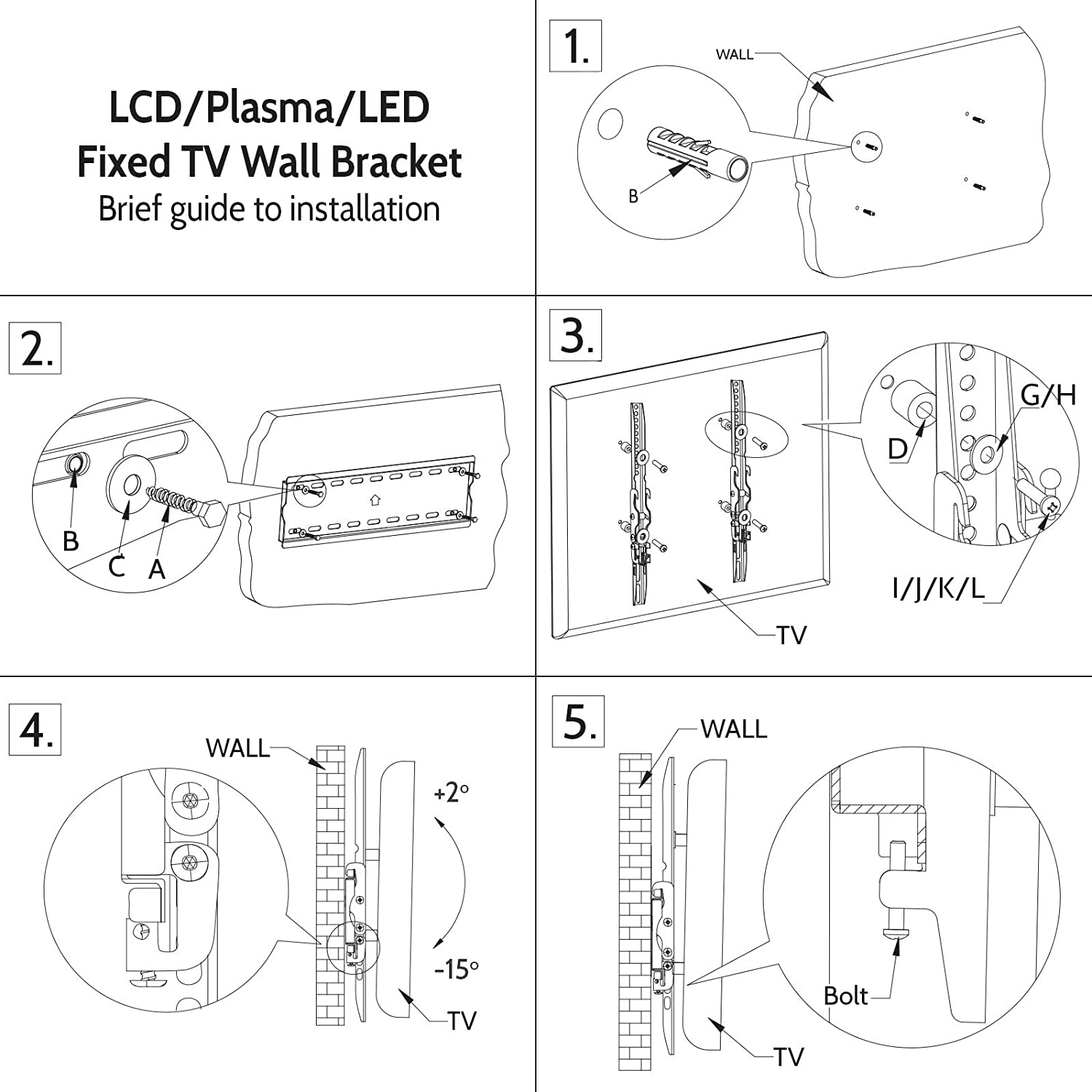 Yousave Accessories Slim pact TV Wall Mount Bracket Amazon