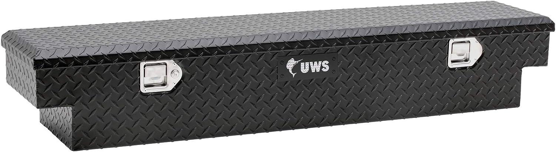 UWS EC10903 59-Inch Matte Black Heavy-Wall Aluminum UTV Tool Box for Select Polaris Ranger RigidCore Lid