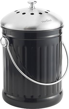 Vonshef Poubelle De Table A Compost 4 5l Poignee Et Filtre Anti