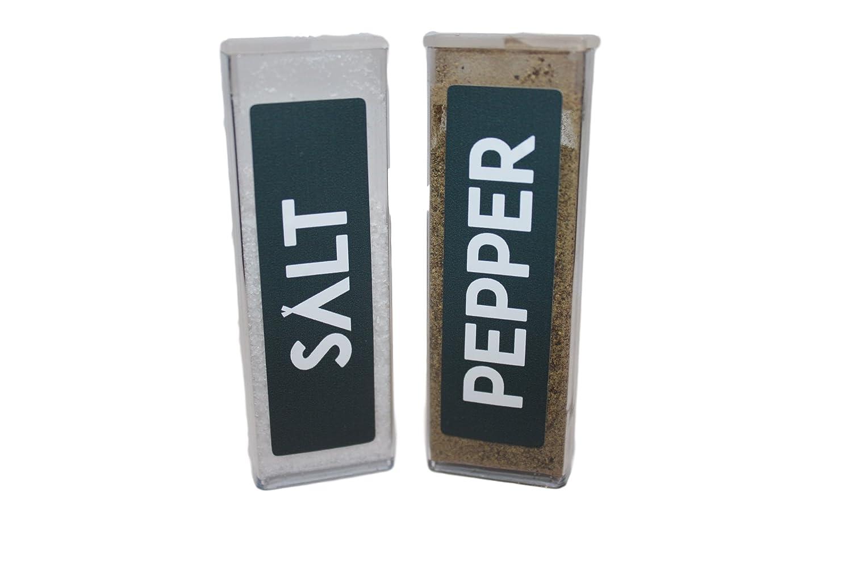 ソリッド要素キャンプSalt and Pepper Shaker Set、軽量、丈夫、ポケットサイズ。Forバックパッキング、ハイキング、またはRV使用。インドアアウトドア料理と使用 B071FBPV37