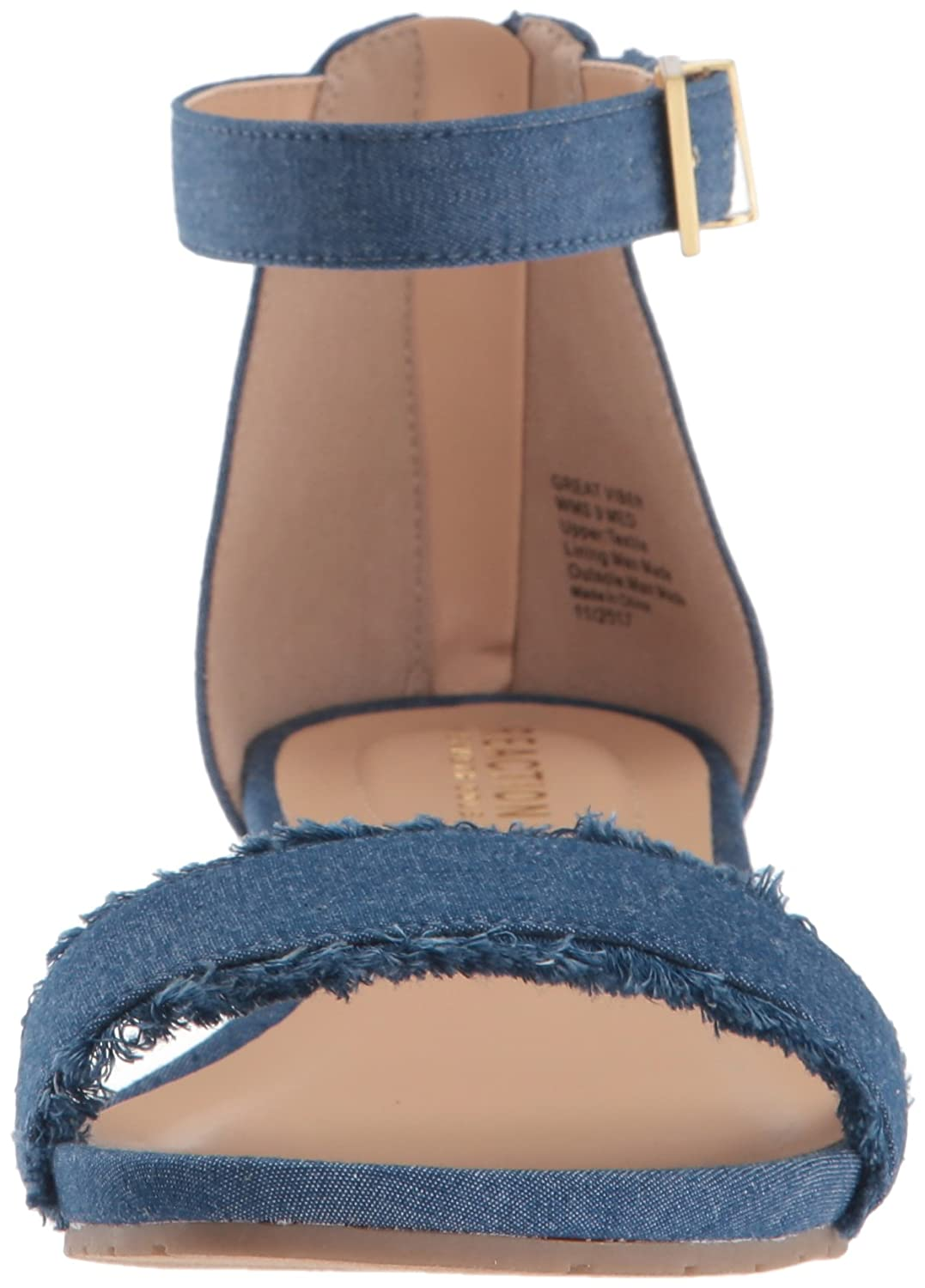 Kenneth Cole REACTION Womens Great Viber 2 Piece Wedge Sandal Wedge Sandal