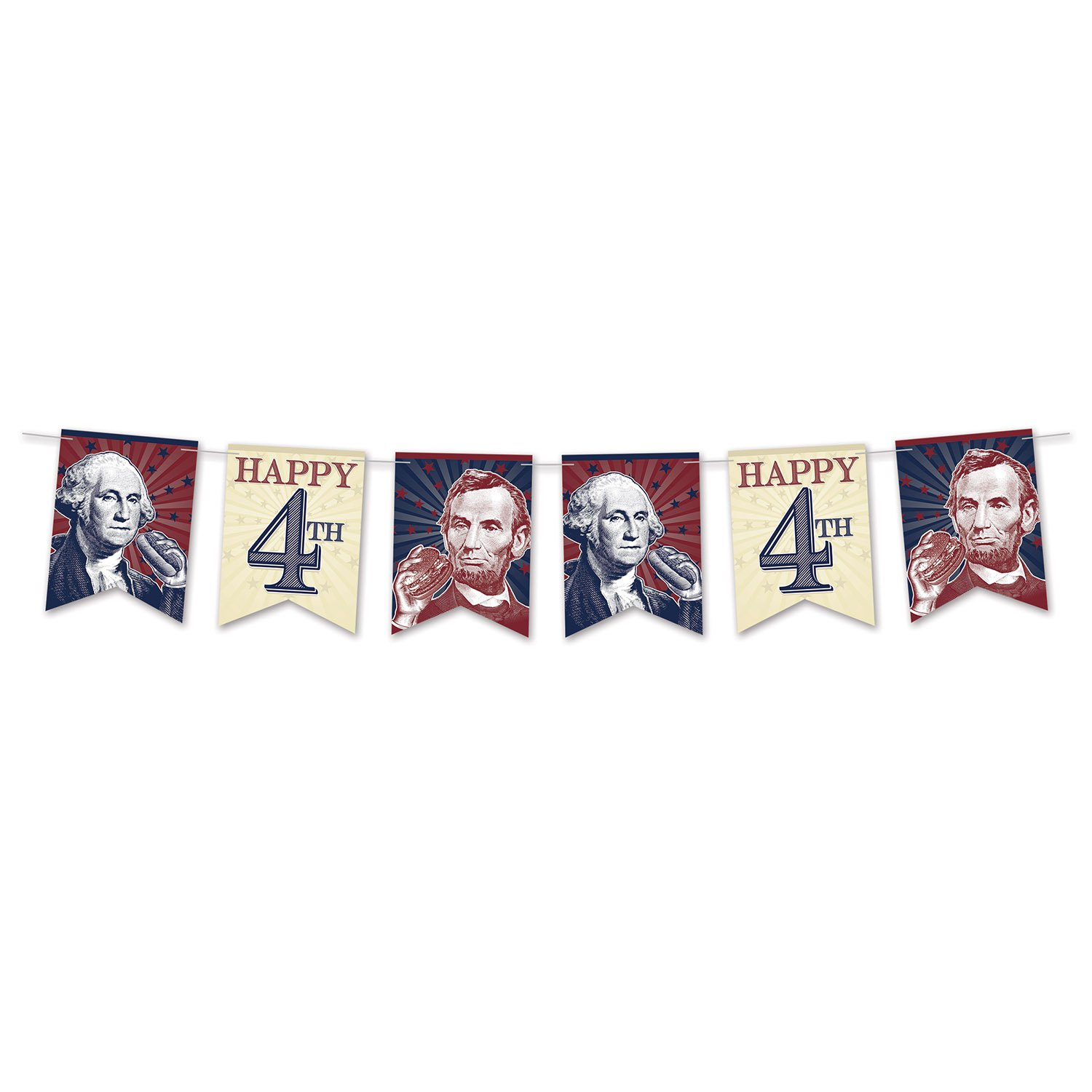 Beistle 4th of July Streamer | American Patriotic Party Supplies (2-Pack)