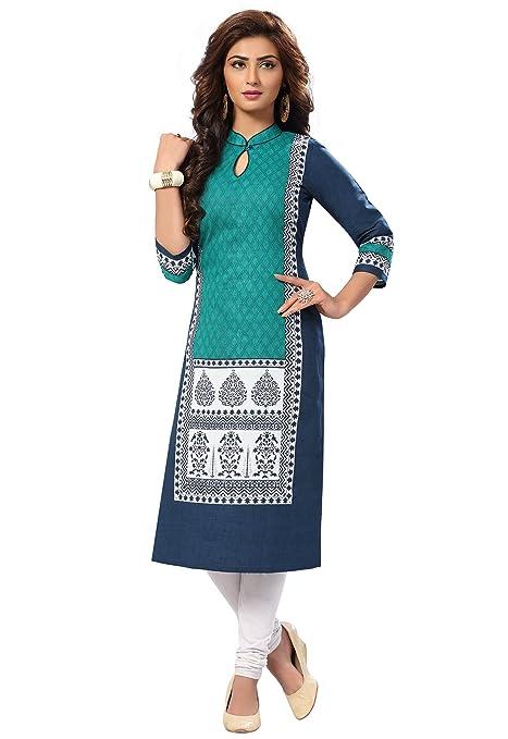 Ishin Women's Dress Material Ethnic Wear at amazon