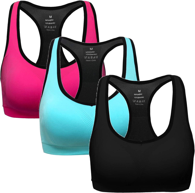 MIRITY Women Racerback Sports Bras Medium Impact Workout Gym Activewear Bra