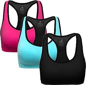 MIRITY Women Racerback Sports Bras - Medium Impact Workout Gym Activewear Bra