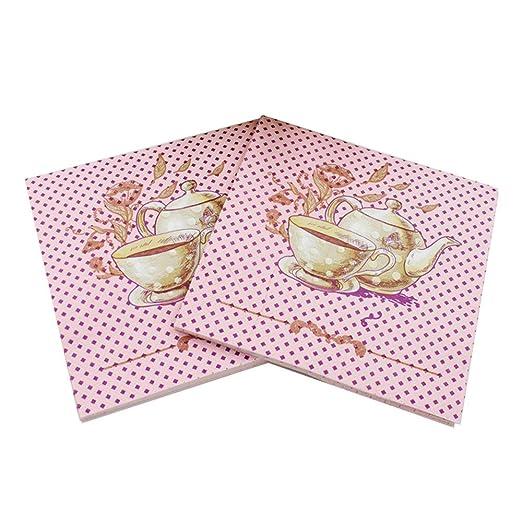 wallye servilletas rosa para el té, bodas o cumpleaños ...