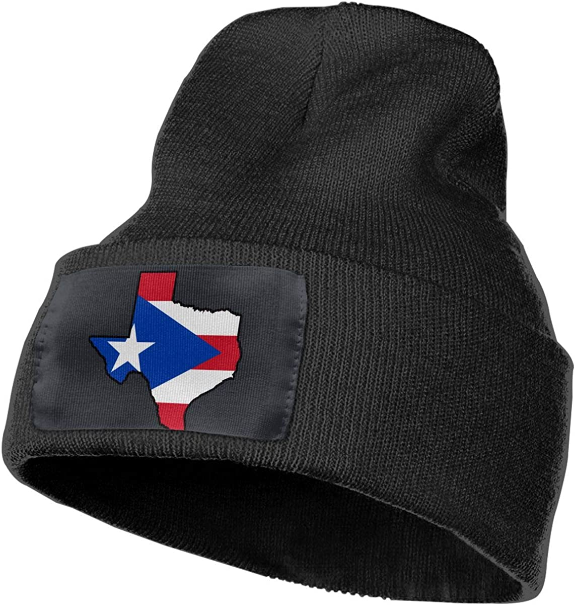 100/% Acrylic Beanie Hat Puerto Rico Flag Texas Map Warm Knitting Hat Mens Womens