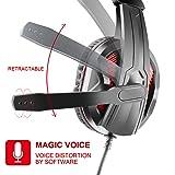 JAMSWALL LED Stereo Gaming Headset, 3.5mm Gaming