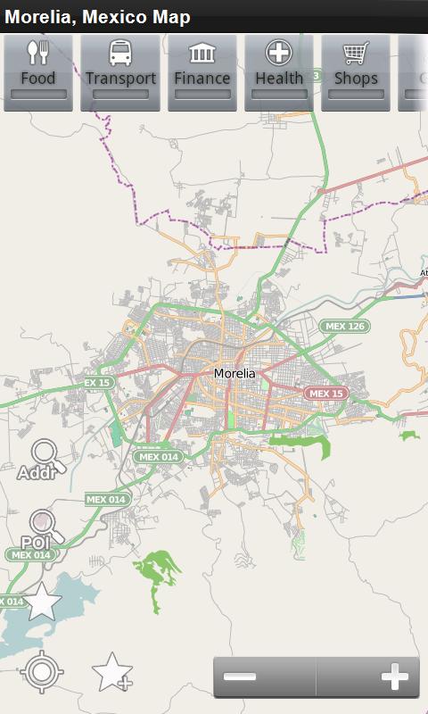 Amazon Com Morelia Mexico Offline Map Place Stars Appstore For