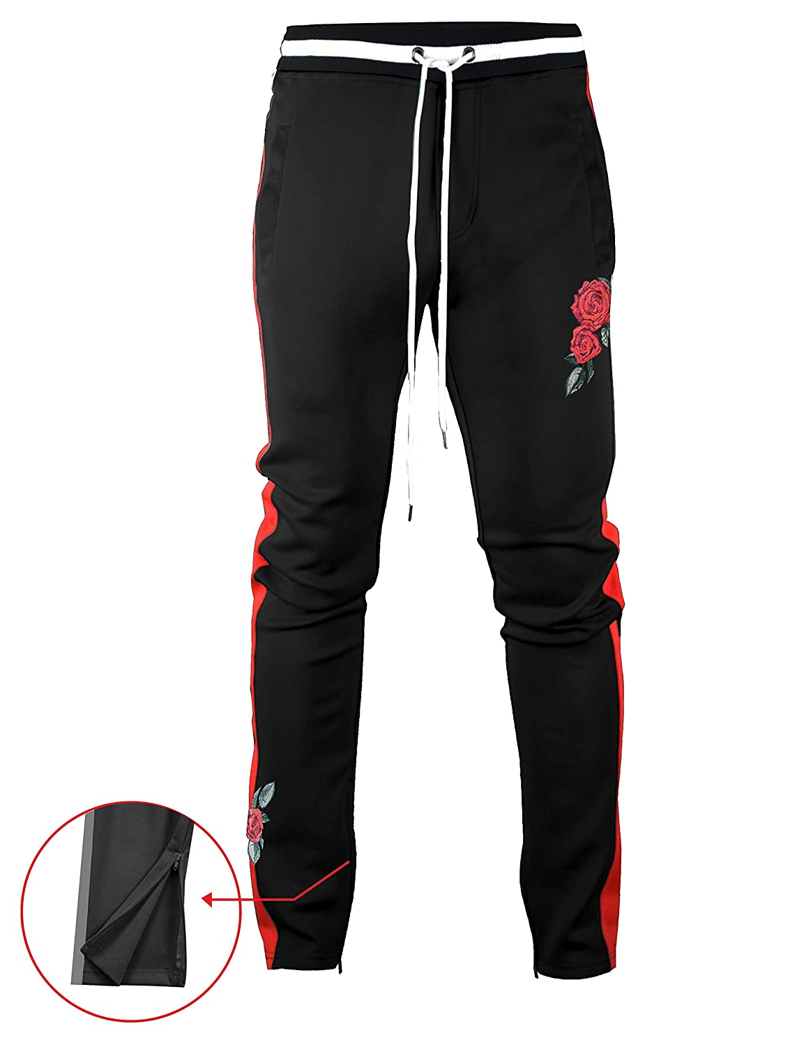 3f2cee14fa6e Amazon.com  Screenshotbrand Mens Hip Hop Premium Slim Fit Track Pants -  Athletic Jogger Bottom with Side Taping  Clothing