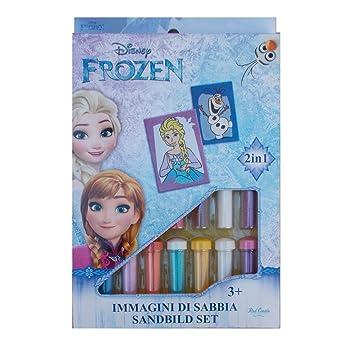 Set Gioco Frozen Elsa Olaf Disney Bambina Immagini Di Sabbia 2 In