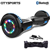 CITYSPORTS Hoverboard 6.5 Inches, Self Balance Electric Scooter, LED Light Wheels, Bluetooth, 700W Motor