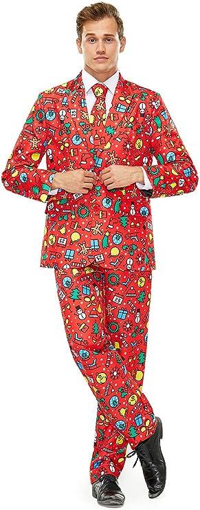 U LOOK UGLY TODAY - Traje con diseño navideño para hombre ...