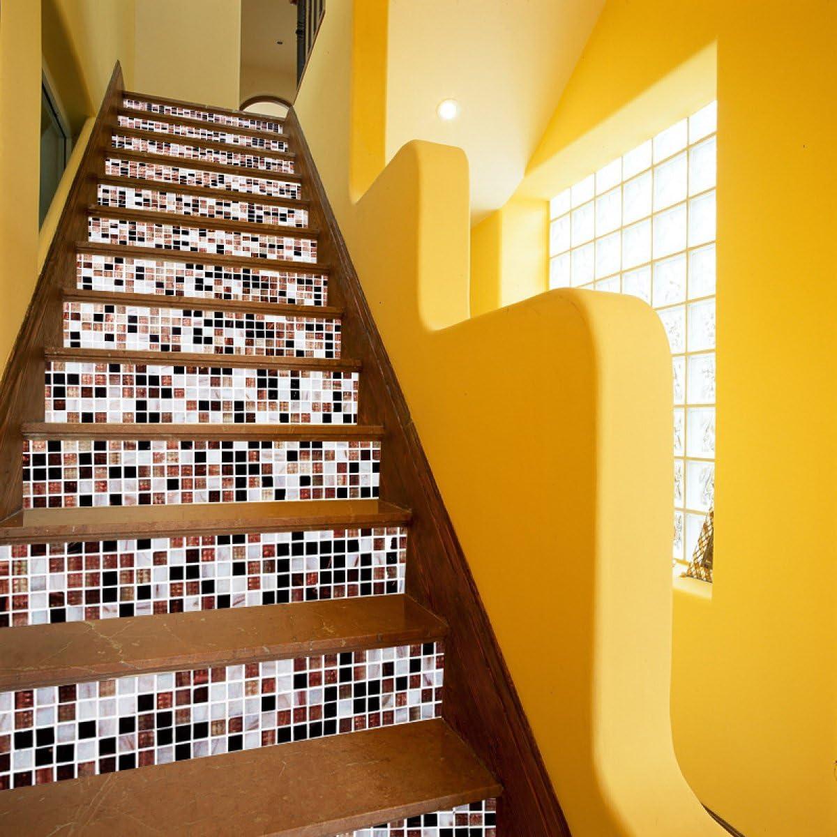 QTZS Creativo 3D Color Pequeño Cuadrado Escalera Pegatinas DIY Renovación Pegatinas De Pared Decorativas 13 Unids: Amazon.es: Hogar