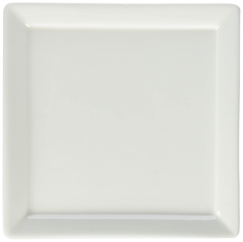 Fortessa Fortaluxe SuperWhite Vitrified China Tavola 10-3/4-Inch Square Flat Bottom Plates, Set of 6 Fortessa /Schott Zwiesel 5500.F0000.27