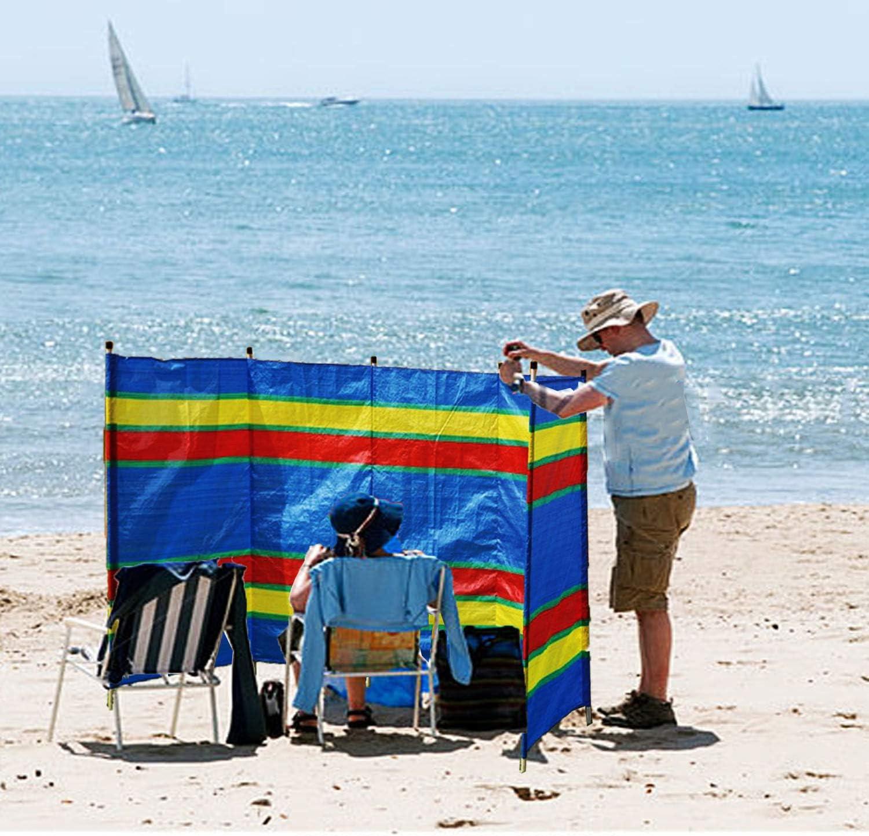 4,5,6 Pole Windbreaker Holiday//Camping//Screen Beach Festival Sun Wind Shelter