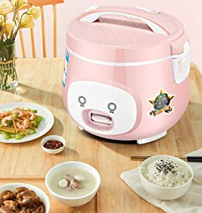 Household rice cooker 3-4 people mini rice cooker student dormitory ordinary old-fashioned rice insulation aluminum alloy rice cooker (Color : Pink, Size : 5l)