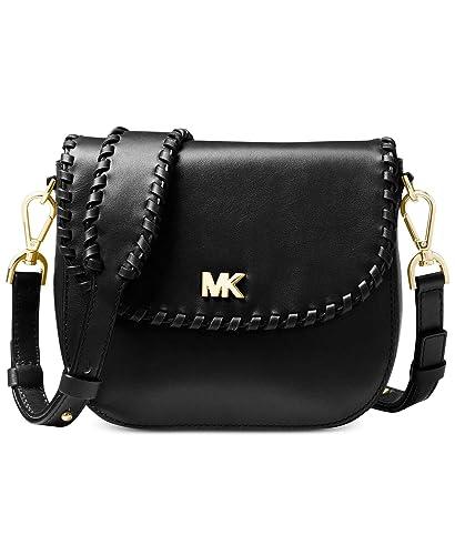 56df63191391 MICHAEL Michael Kors Half Dome Crossbody (Black): Handbags: Amazon.com