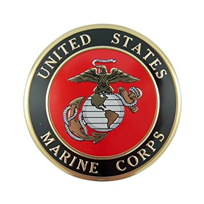 United States Military Marine Corps Metal Auto Decal Emblem, 4 Inch: Automotive