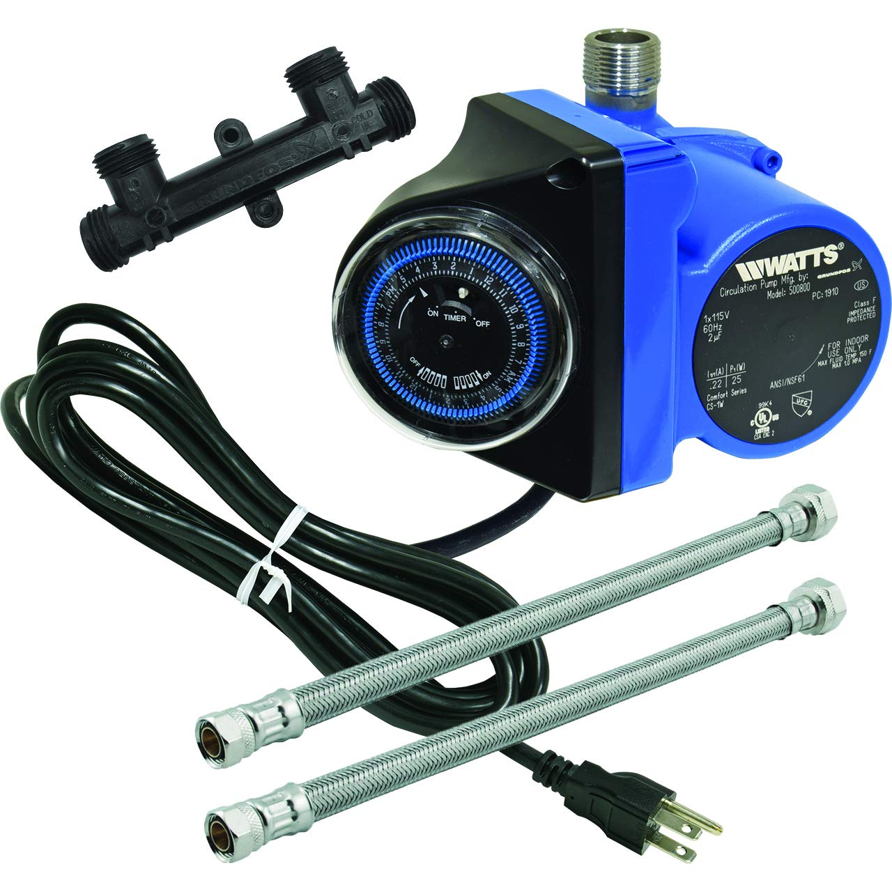 Watts 500800 Instant Hot Water Recirculating System with Built-In Timer, Easy to Install by Watts