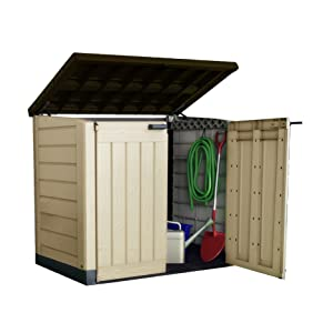 Keter Store It Out Max Outdoor Plastic Garden Storage Shed, 145.5 x 82 x 125 cm - Beige/Brown