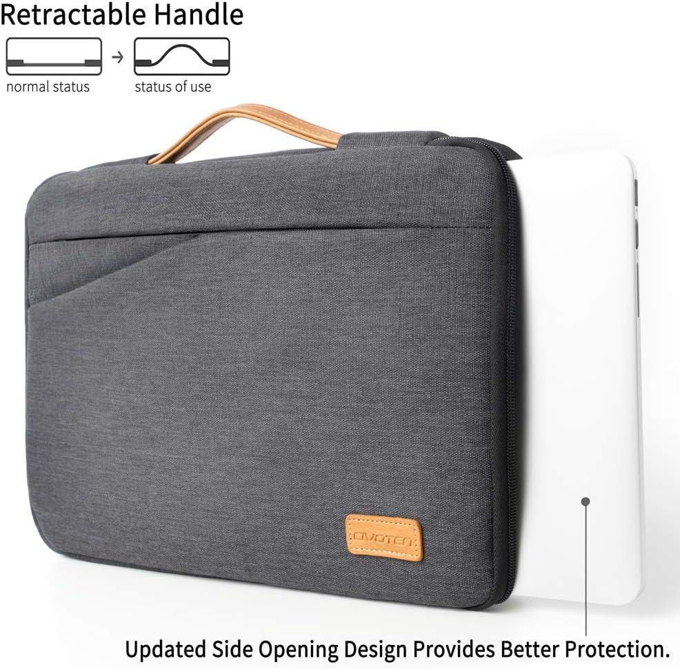 Civoten 14 Inch Laptop Sleeve Case Notebook Bag Water-Resistant Handbag for 15