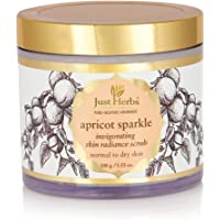 Just Herbs Apricot Sparkle Invigorating Skin Radiance Scrub, White, 100g