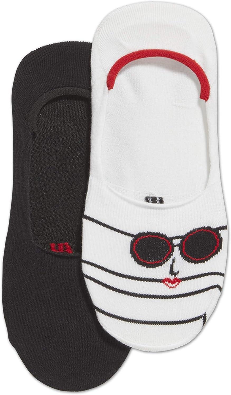 Hue womens Low Cut Sneaker Liner Socks With Gel Tab 2 Pair Pack Liner Socks