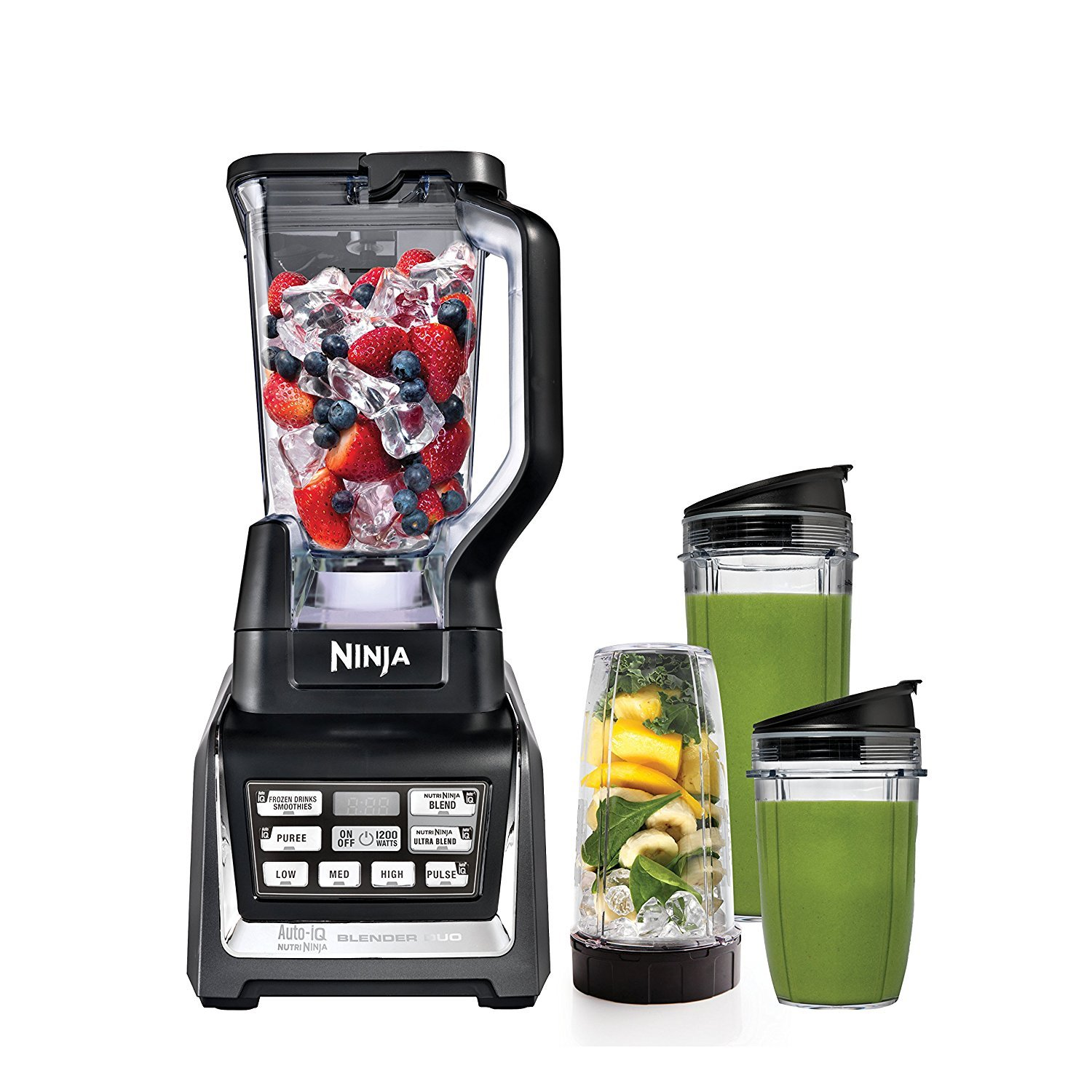 SharkNinja Blender Duo with Auto iQ, Silver Black Renewed