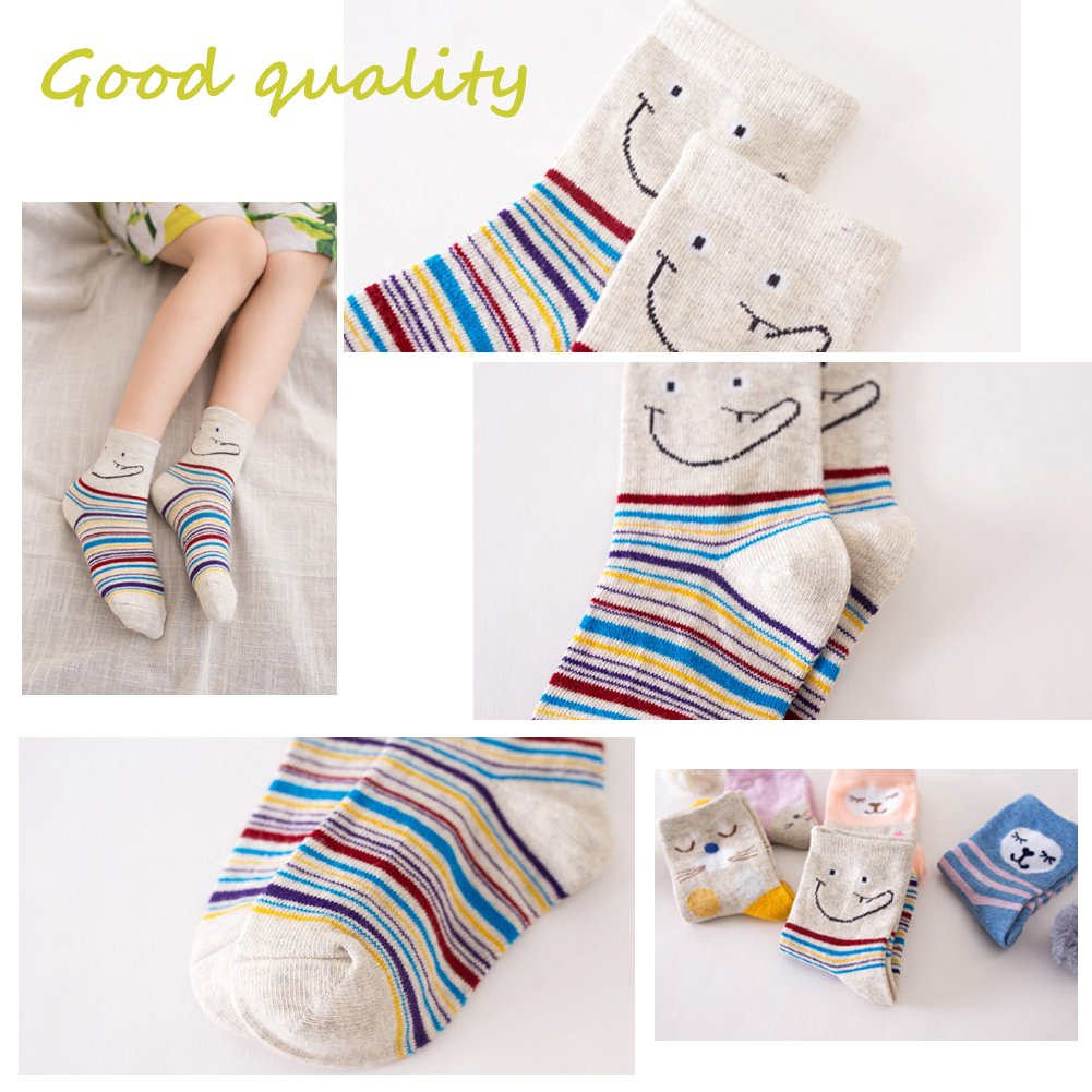 Kids Girls Socks Unisex Children socks,LITOON Funny Cotton Socks for Baby,Boy,Girl 5 Pairs
