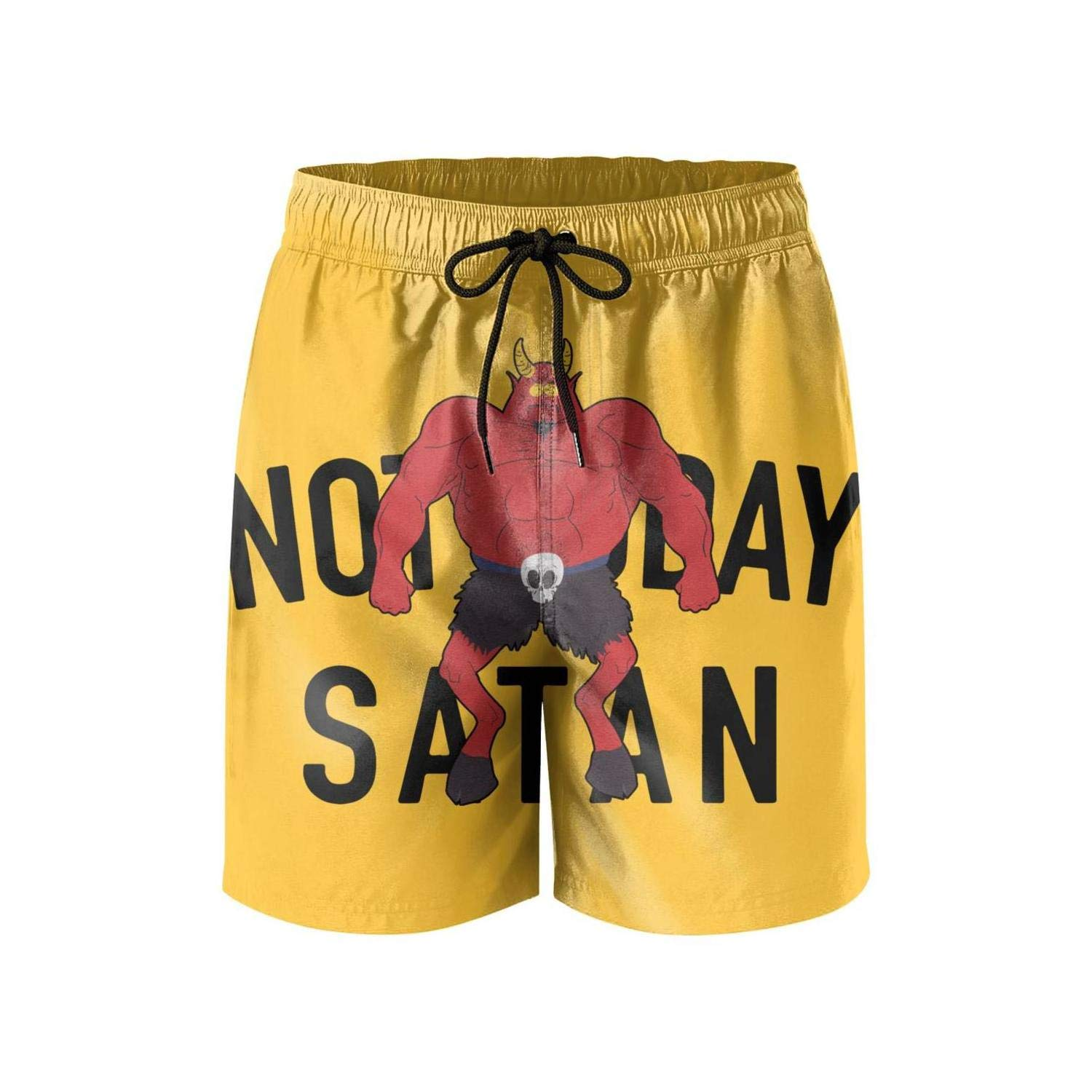 Colorful Stretch Board Printed Pants srtings The Evil red Dragon Hug one Skull Swim Shorts