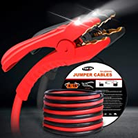 Rocky Mountain Goods Pro Source Jumper Cables for Jump Starting Car Quick Connect Booster Cables with Heavy Duty Clamps 10GA 12 FT Tangle Free Fits both Top and Side Batteries