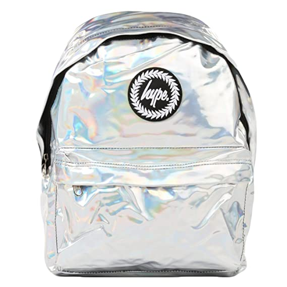 688c8e41238 Just Hype Backpack Bag - Holographic Silver  Amazon.co.uk  Clothing