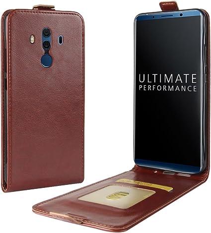 Funda para Huawei Mate 10 Pro Faux Cuero Billetera con Stand Función Carcasa para Huawei Mate 10 Pro (Marrón): Amazon.es: Electrónica