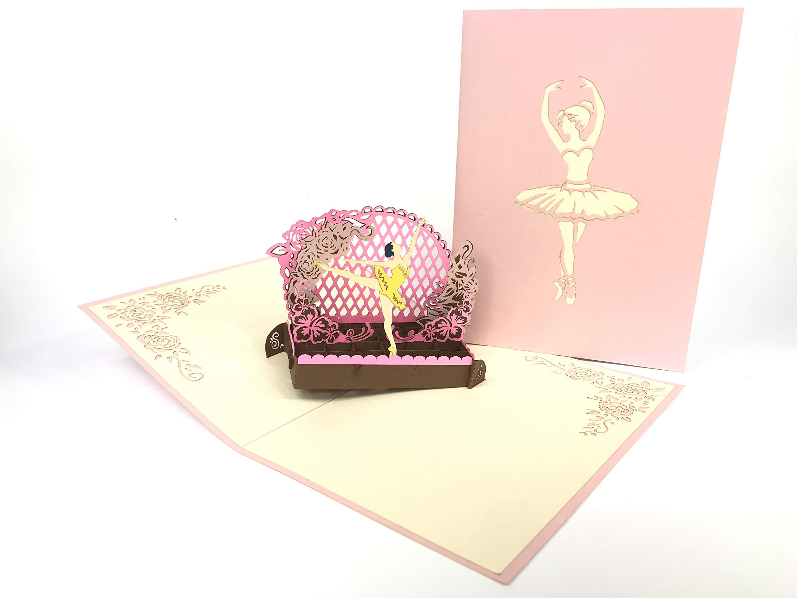 Ballerina Theater 3d Pop Up Greeting Card Handmade Happy Birthday Wedding Anniversary Friendship Merry Christmas Thanksgiving Thank You Best Wish Good Luck Happy New Year Valentine S Day Red Buy Online In Bahamas