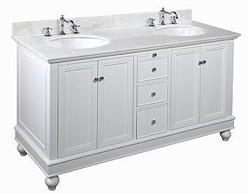 Kitchen Bath Collection KBC222WTWT Bella Double Sink Bathroom