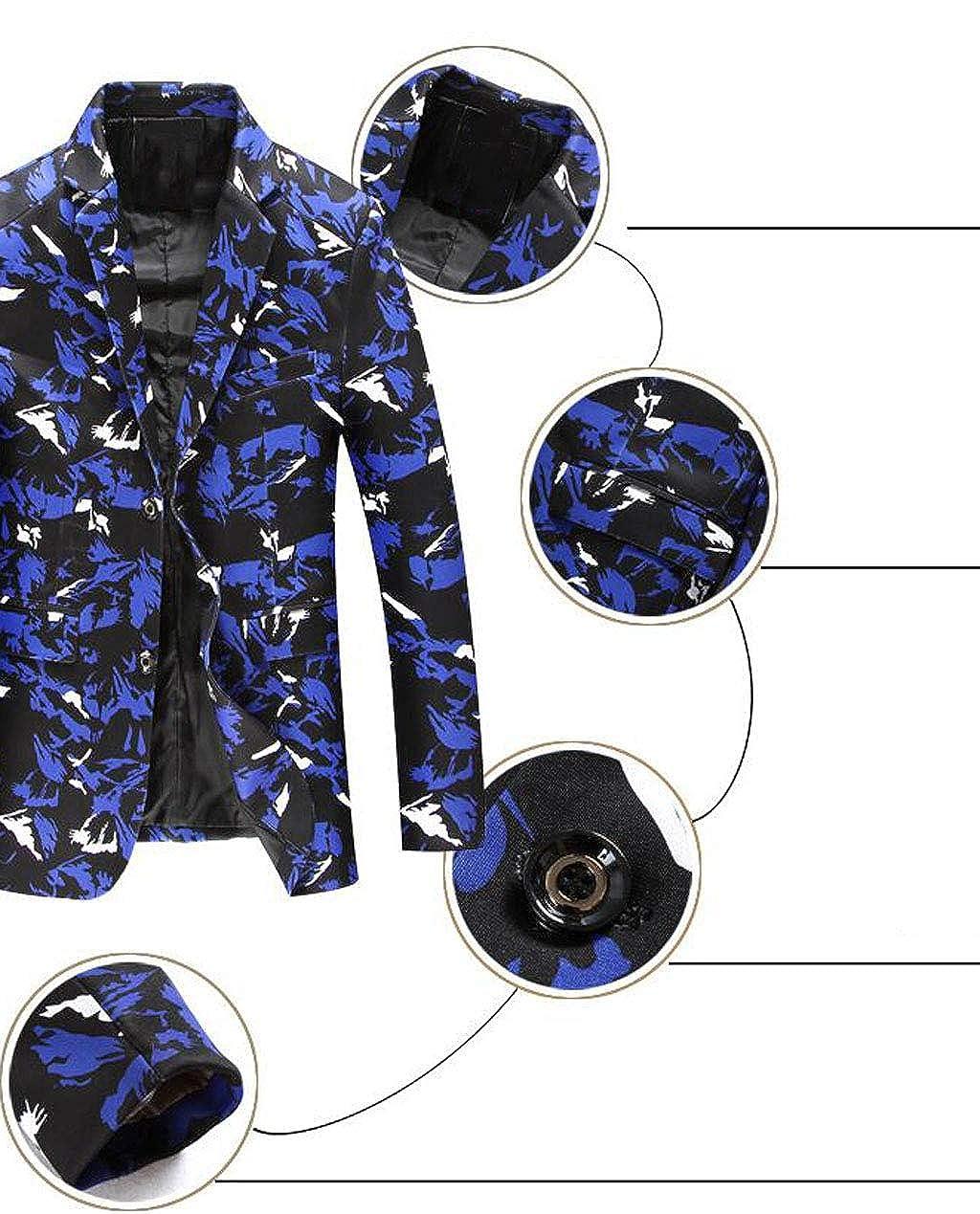 Chaquetas Slim fit con un Solo botón en los Bolsillos con Solapa de un Solo botón Chaqueta Blazer sólida (Color : Blanco, Tamaño : S): Amazon.es: Ropa y ...