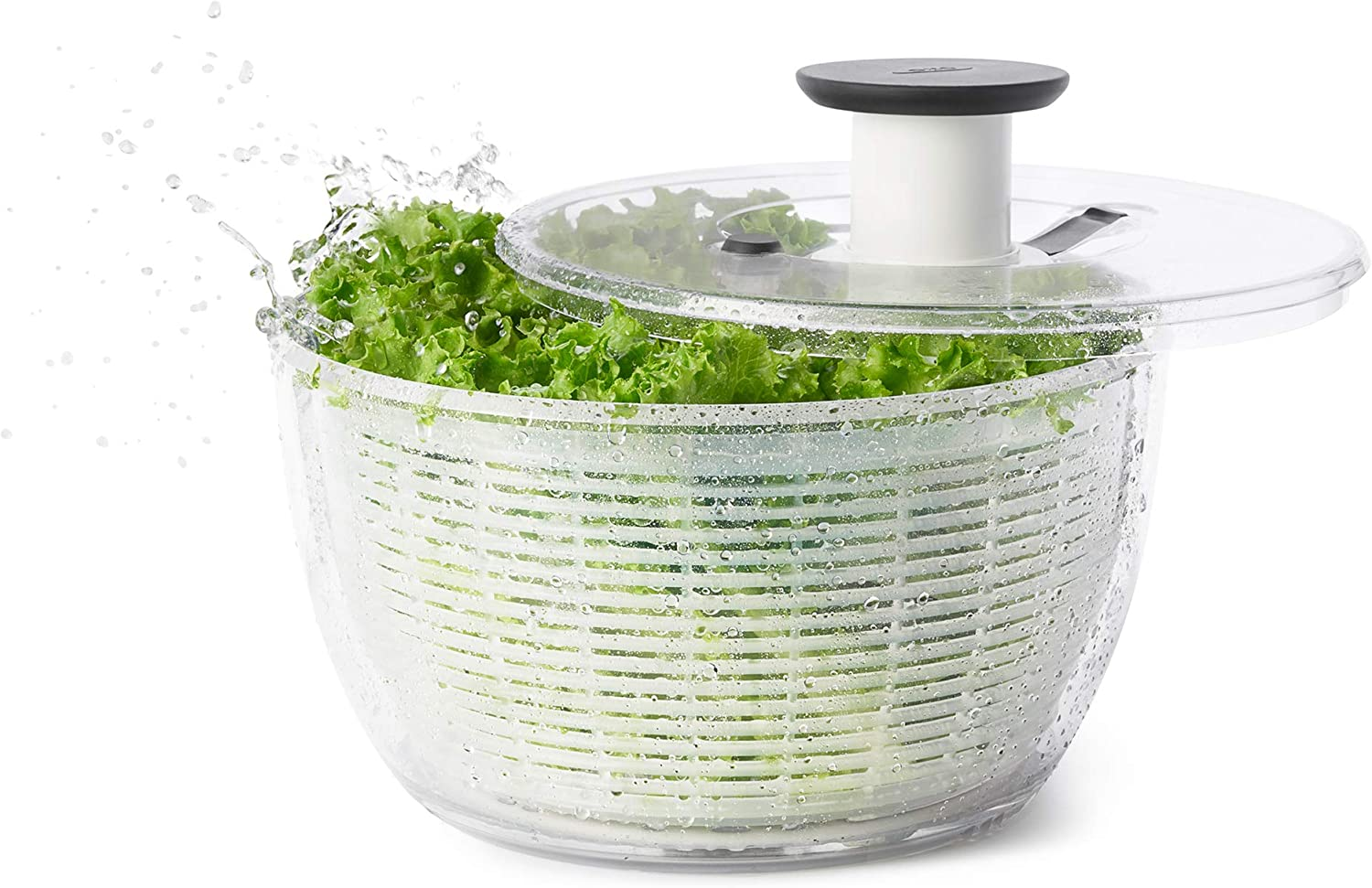 B00004OCKR OXO Good Grips Salad Spinner, Large, Clear 717W7xmn61L