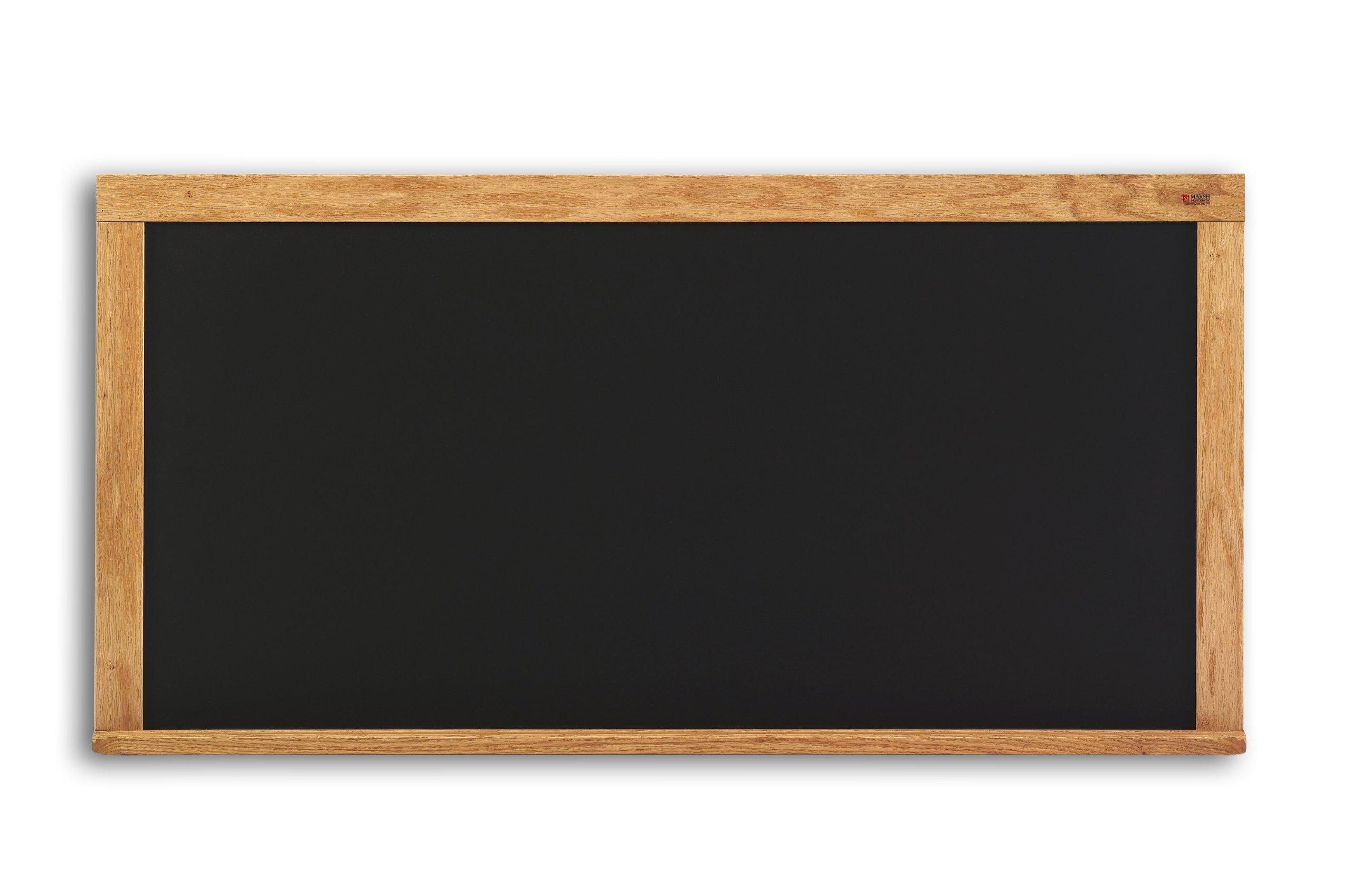 Composition Chalkboard in Black w Oak Wood Trim (48 in. x 72 in.)