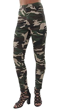 dbbb5ad9ccaab Fashion2Love Women's Camouflage High Waist Light Denim Skinny Jeans Size 1