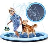 Non-Slip Splash Pad Sprinkler for Kids Toddlers, Kiddie Baby Pool, Outdoor Games Water Mat Toys - Infant Wading Swimming…