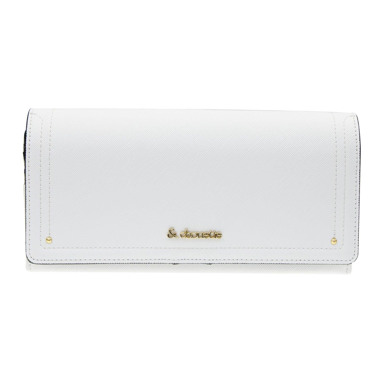 サマンサタバサ & chouette サマンサ シュエット フラップ かぶせ 長財布 ショップバッグ純正化粧箱付き サマンサラッピング可 B01MZ2V984 ホワイト ホワイト