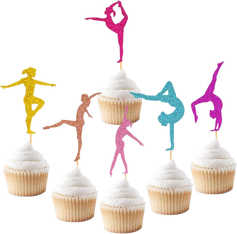Girl Gymnast Cupcake Stand Gymnast Theme Cupcake Stand Gymnastics Cupcake Decoration Cupcake Stand Gymnast Party Decoration Gym Birthday